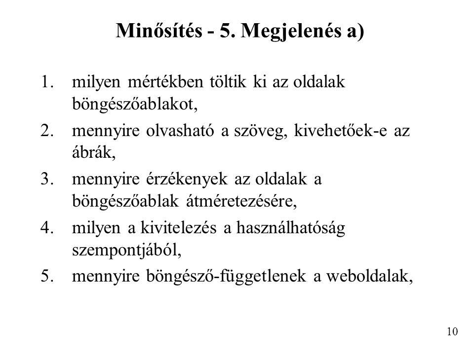 Minősítés - 5.