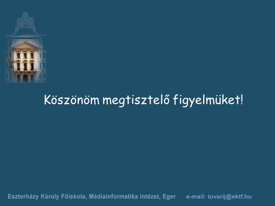 e-mail: tovarij@ektf.hu Köszönöm megtisztelő figyelmüket!