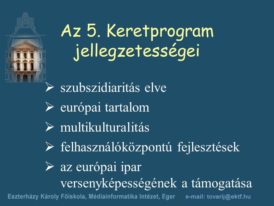 e-mail: tovarij@ektf.hu Az 5.