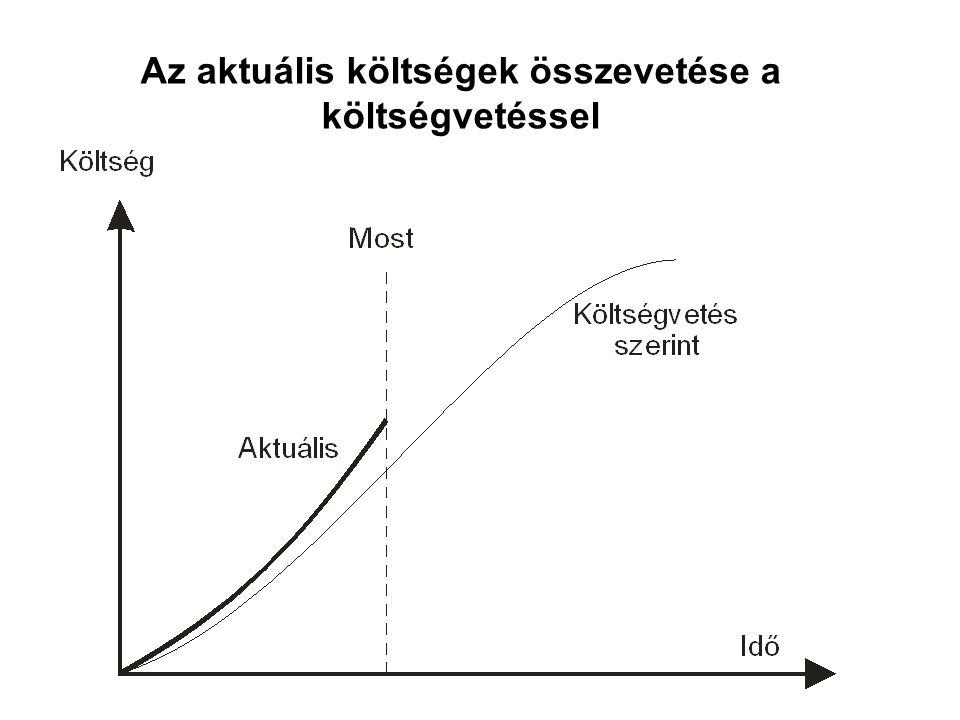 Az aktuális költségek összevetése a költségvetéssel