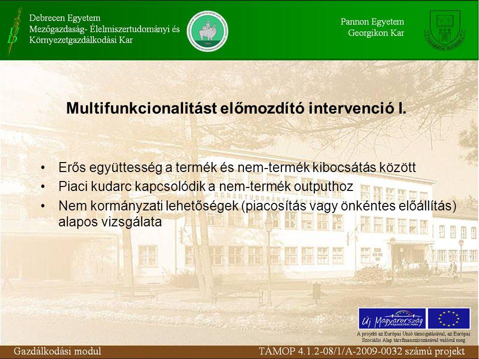 Multifunkcionalitást előmozdító intervenció I.