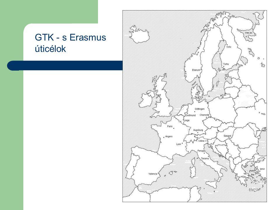 GTK - s Erasmus úticélok