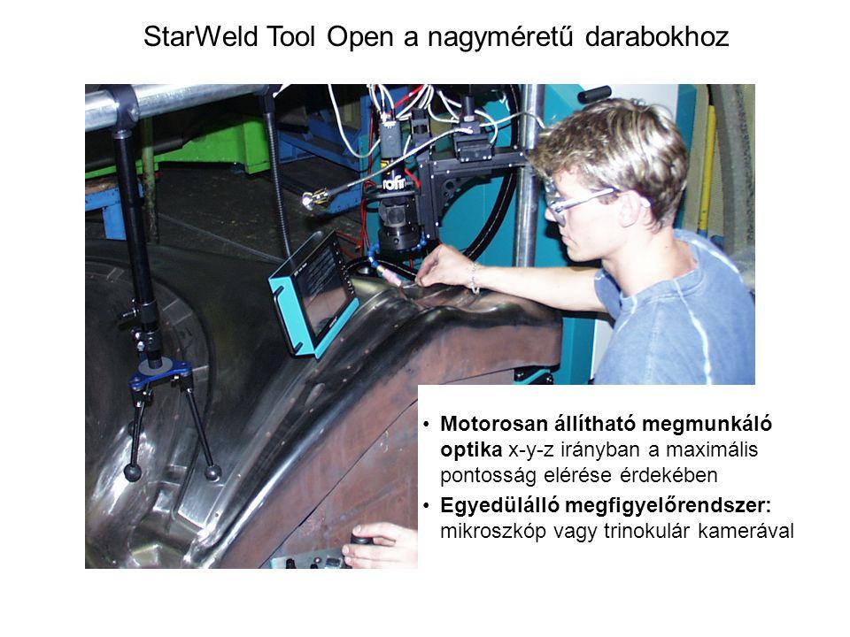 StarWeld Tool Open a nagyméretű darabokhoz Motorosan állítható megmunkáló optika x-y-z irányban a maximális pontosság elérése érdekében Egyedülálló me