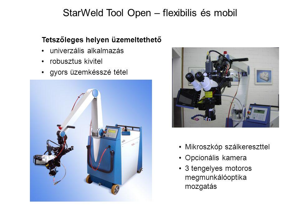 Tetszőleges helyen üzemeltethető univerzális alkalmazás robusztus kivitel gyors üzemkésszé tétel StarWeld Tool Open – flexibilis és mobil Mikroszkóp s