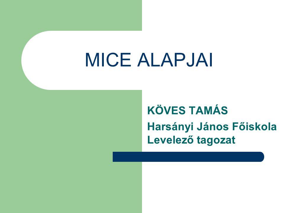 MICE ALAPJAI KÖVES TAMÁS Harsányi János Főiskola Levelező tagozat