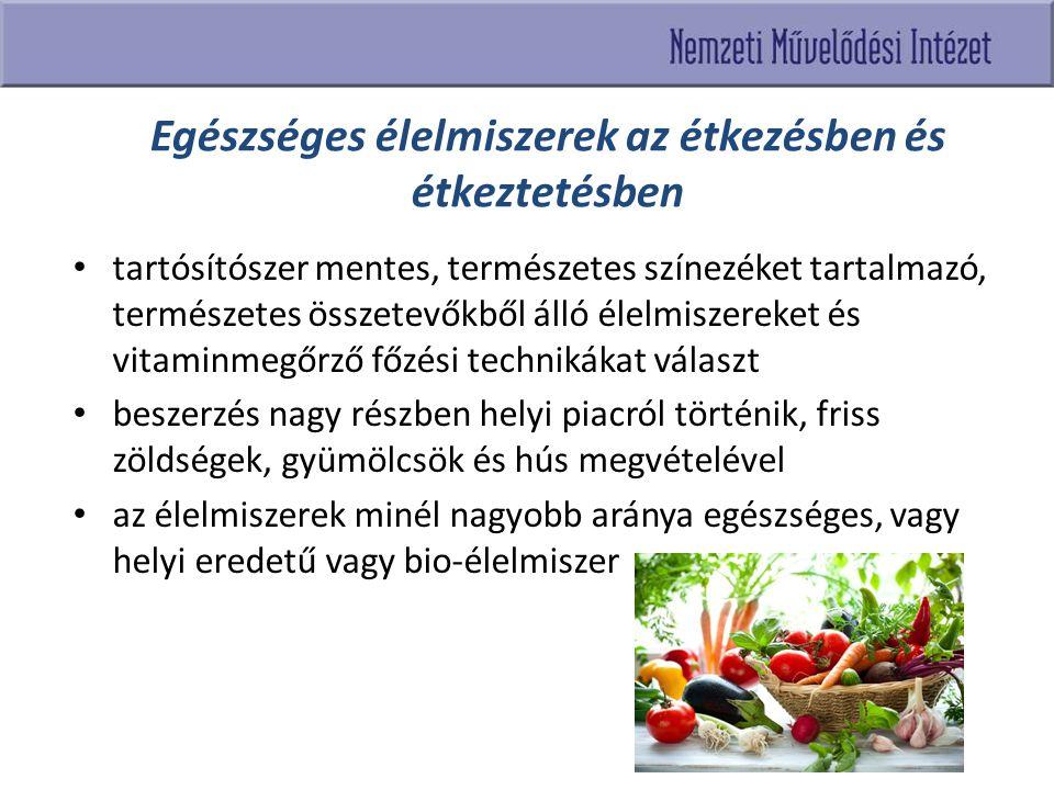 Egészséges élelmiszerek az étkezésben és étkeztetésben tartósítószer mentes, természetes színezéket tartalmazó, természetes összetevőkből álló élelmis