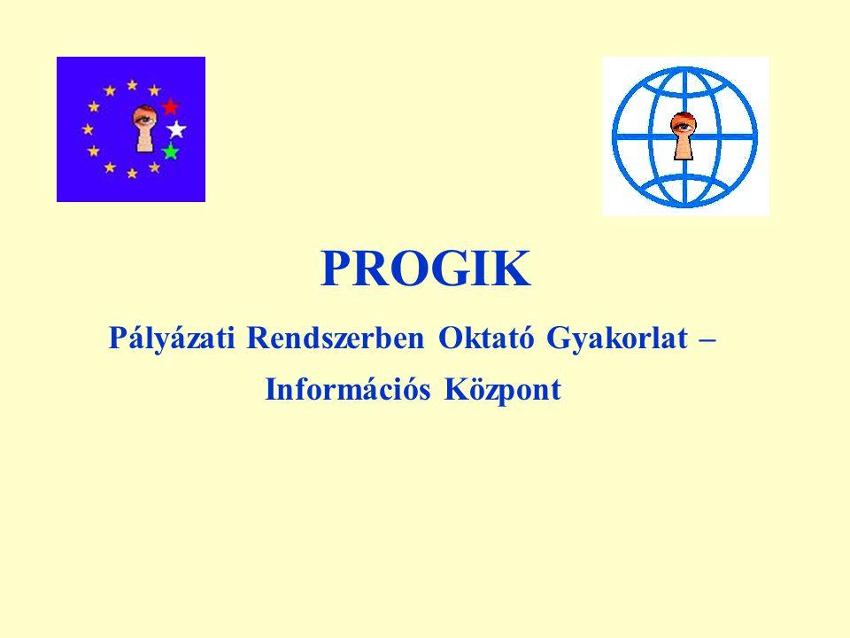 PROGIK Pályázati Rendszerben Oktató Gyakorlat – Információs Központ
