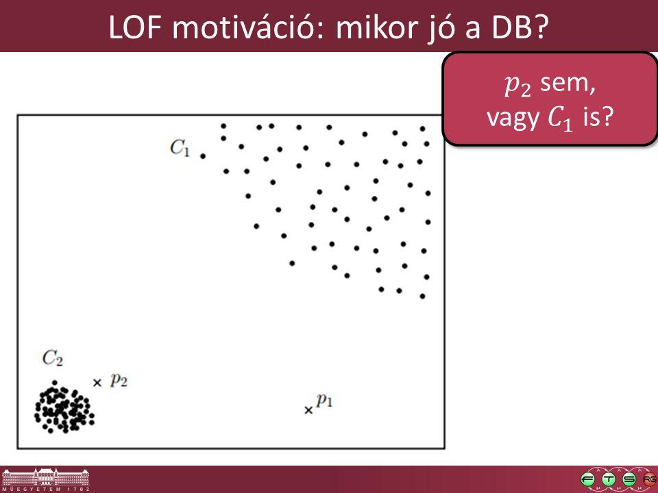 LOF motiváció: mikor jó a DB?