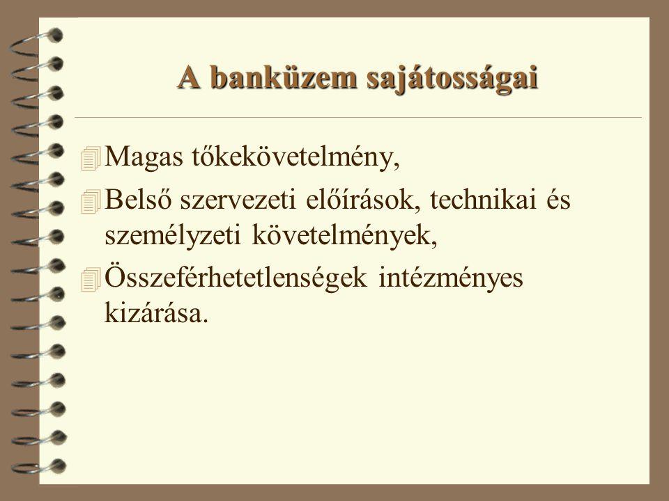 A bankok erős szabályozás és felügyelet alatt állnak 4 monetáris szabályozás és a monetáris hatóság felvigyázó funkciója.