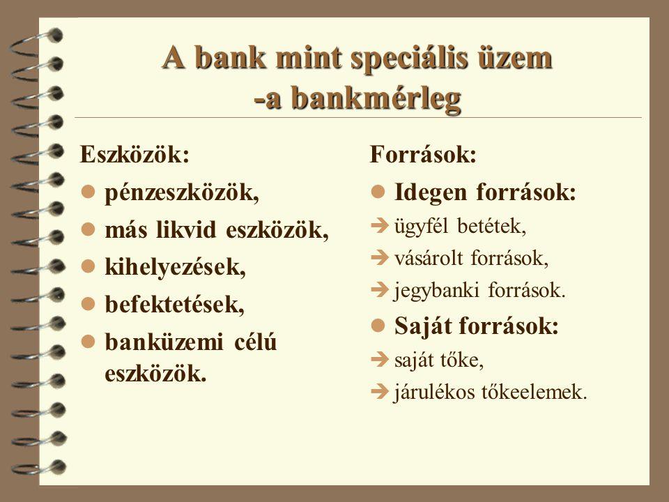 Érdekhordozók 4 A bank profitorientált vállalat Tulajdonos és menedzser.