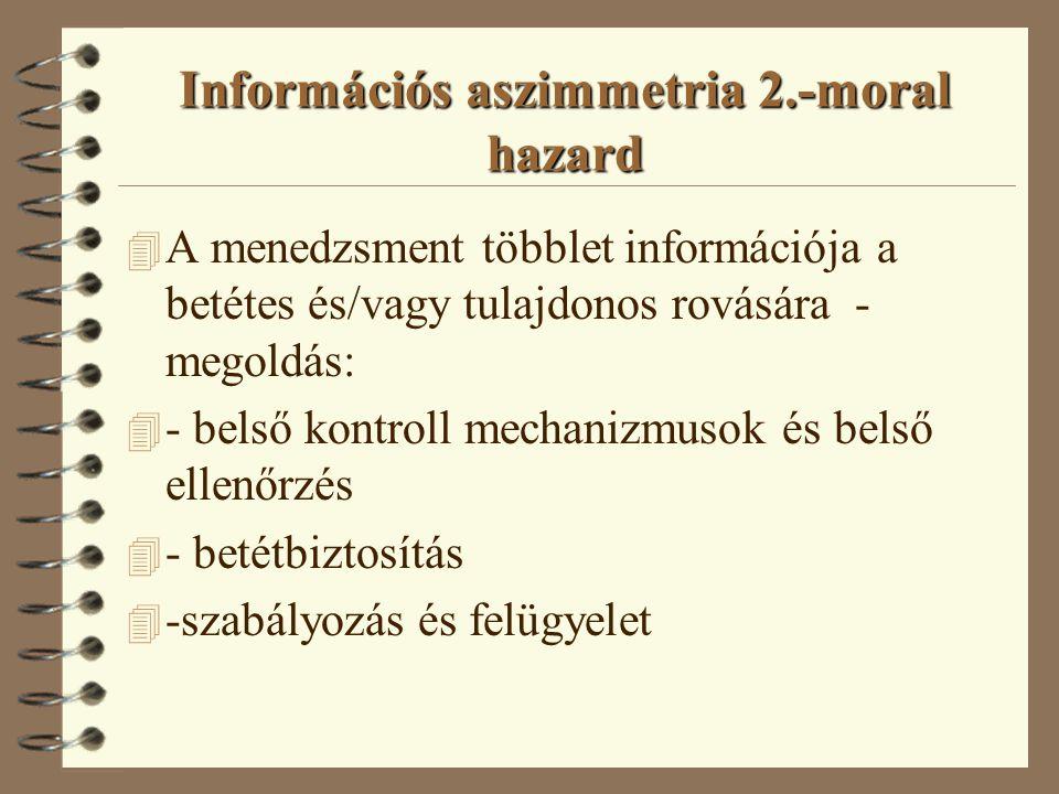 Információs aszimmetria 1.