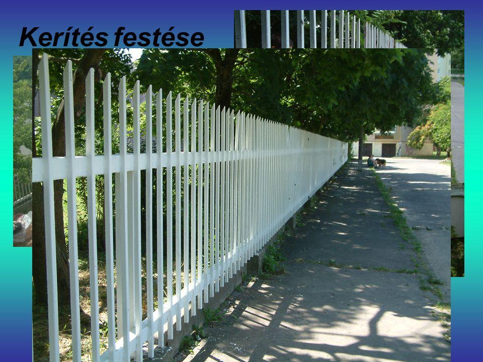 Kerítés festése