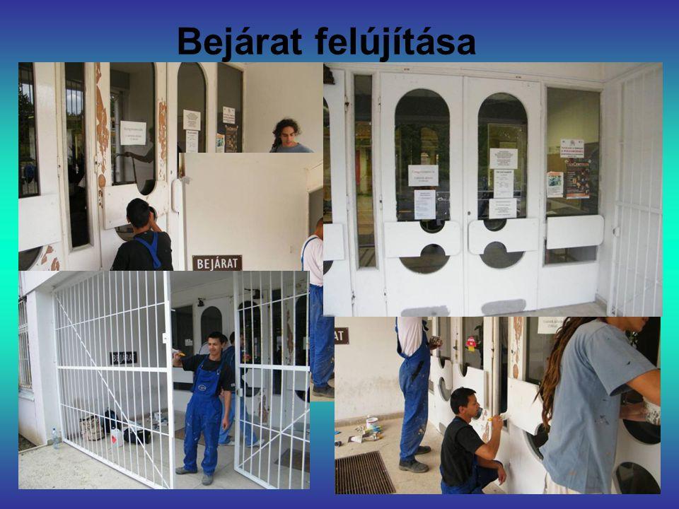 Bejárat felújítása