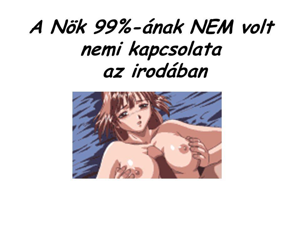 A Nök 99%-ának NEM volt nemi kapcsolata az irodában