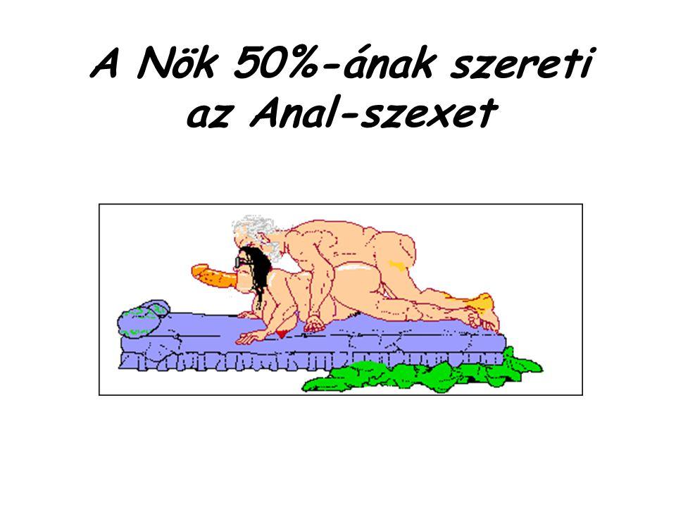 A Nök 50%-ának szereti az Anal-szexet