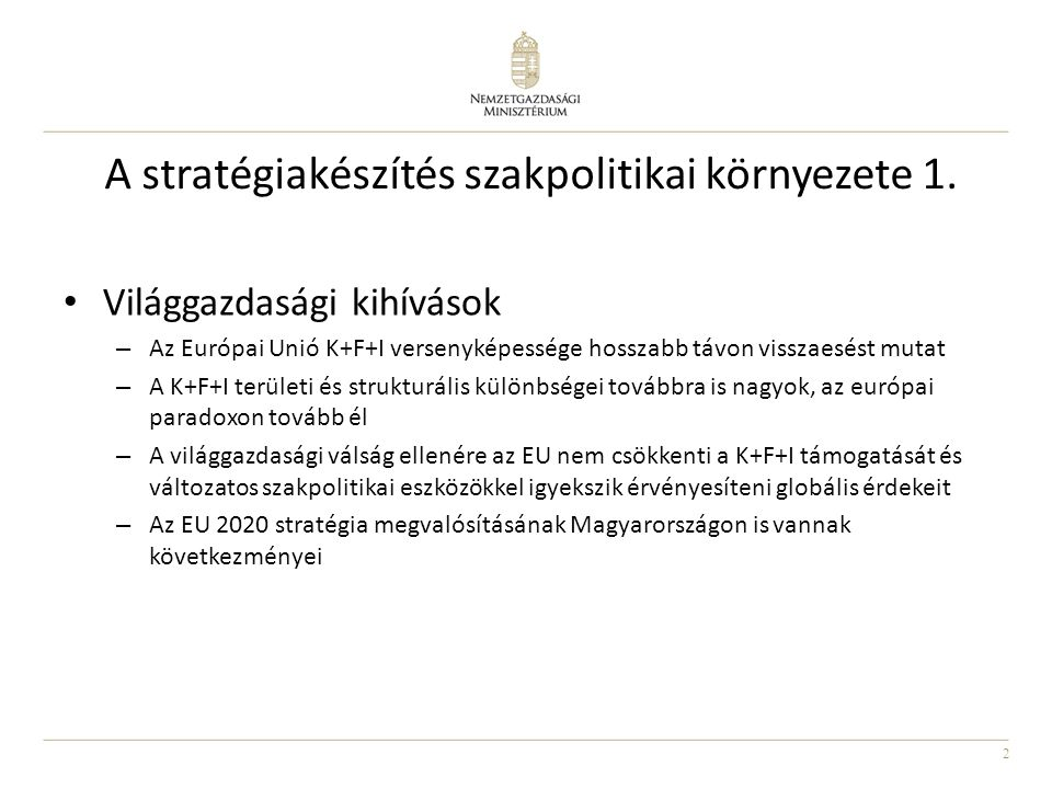 3 A stratégiakészítés szakpolitikai környezete 2.