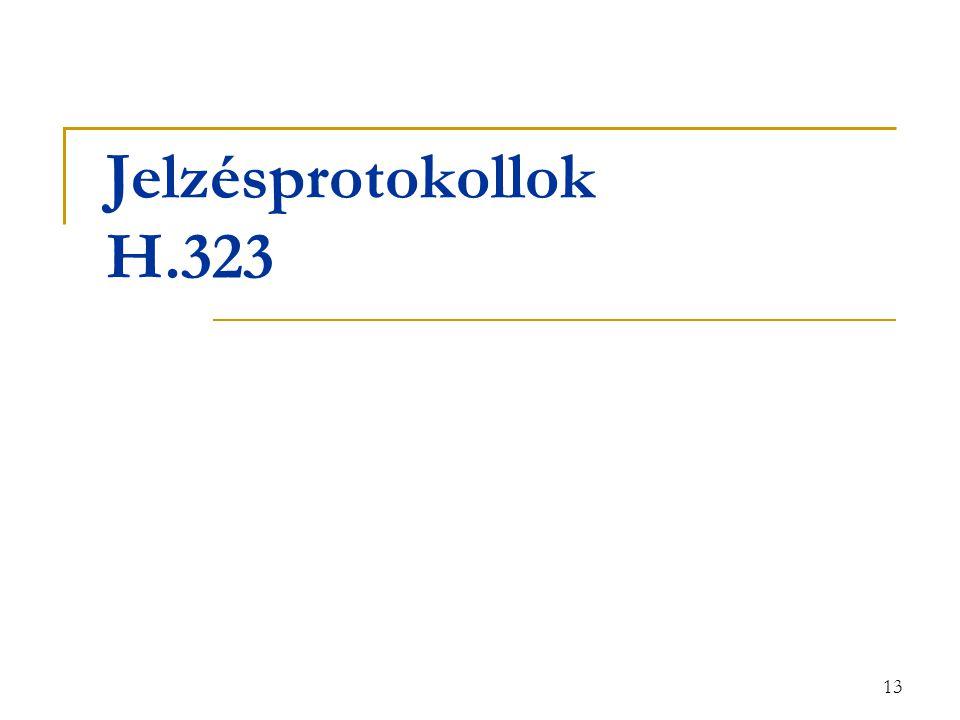 13 Jelzésprotokollok H.323