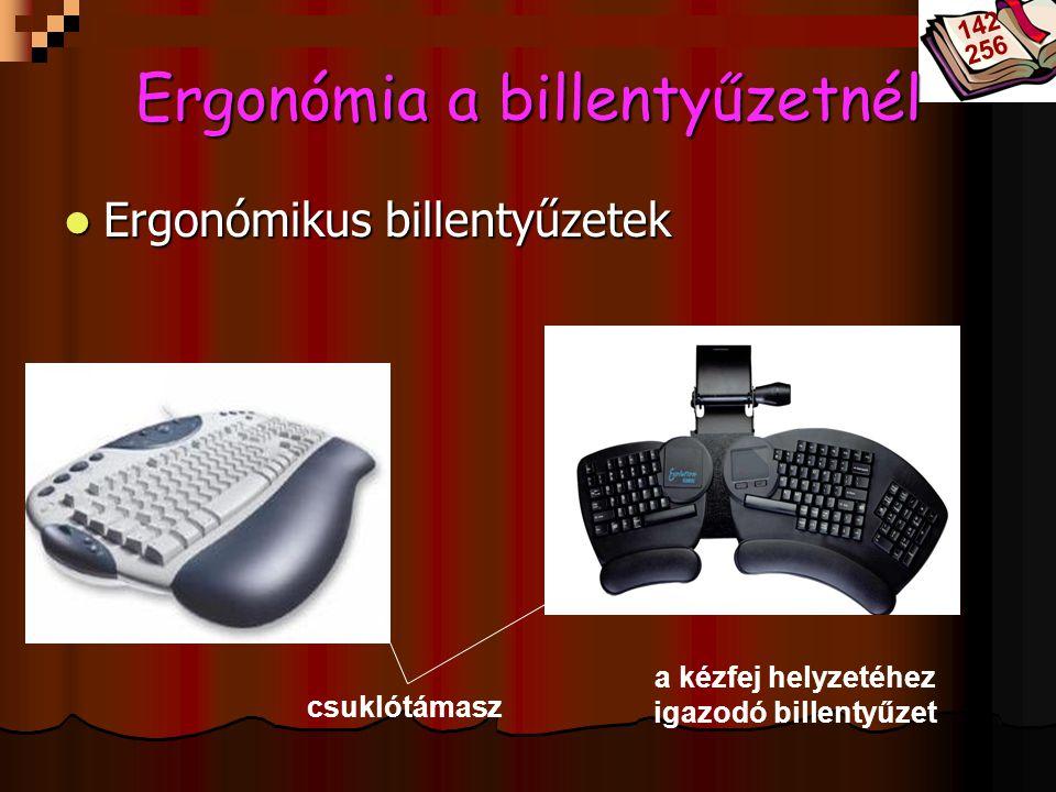 Bóta Laca Ergonómia a billentyűzetnél Ergonómikus billentyűzetek Ergonómikus billentyűzetek csuklótámasz a kézfej helyzetéhez igazodó billentyűzet 142