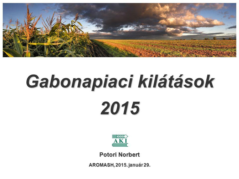 Gabonapiaci kilátások 2015 Potori Norbert AROMASH, 2015. január 29.