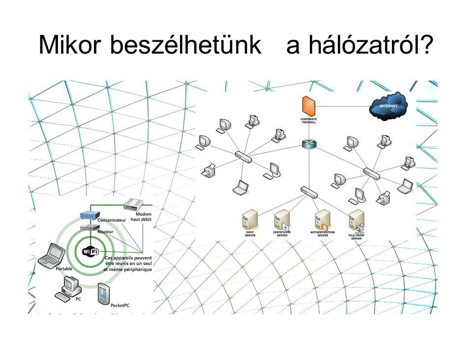 Hálózat: gazdaságos, meghatározott minőségű összeköttetések biztosítása –tagolt hálózati szerkezet (üzemeltetési, szolgáltatási, technológiai okok)funkcionális –földrajzi –hierarchikus