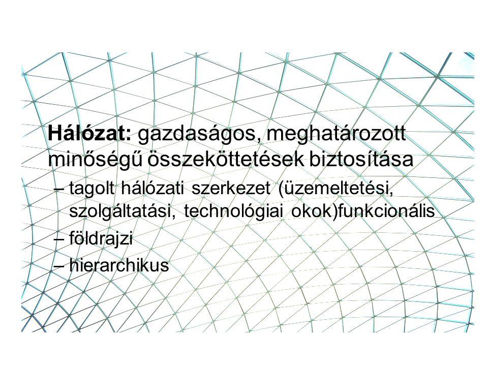 A hálózat azonos értékű elemekből álló rendszer, amelyben az elemek különböző módon kapcsolatban állnak egymással.