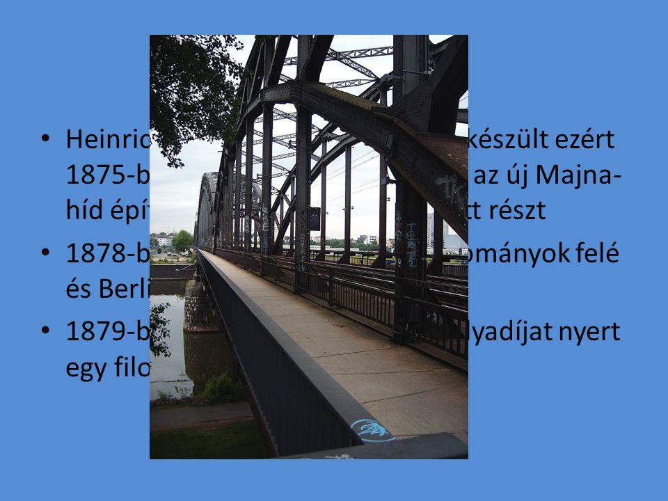 Heinrich eleinte mérnöki pályára készült ezért 1875-ben Frankfurtba ment, ahol az új Majna- híd építésében gyakornokként vett részt 1878-ban fordult a természettudományok felé és Berlinbe költözött 1879-ben a Berlini Egyetemen pályadíjat nyert egy filozófiai fakultáción