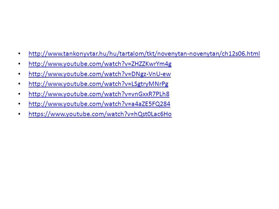 http://www.tankonyvtar.hu/hu/tartalom/tkt/novenytan-novenytan/ch12s06.html http://www.youtube.com/watch?v=ZHZZKwrYm4g http://www.youtube.com/watch?v=D