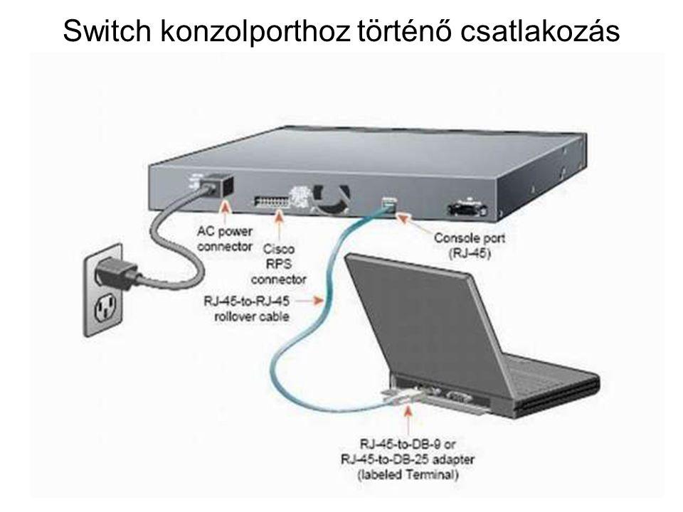 Switch konzolporthoz történő csatlakozás