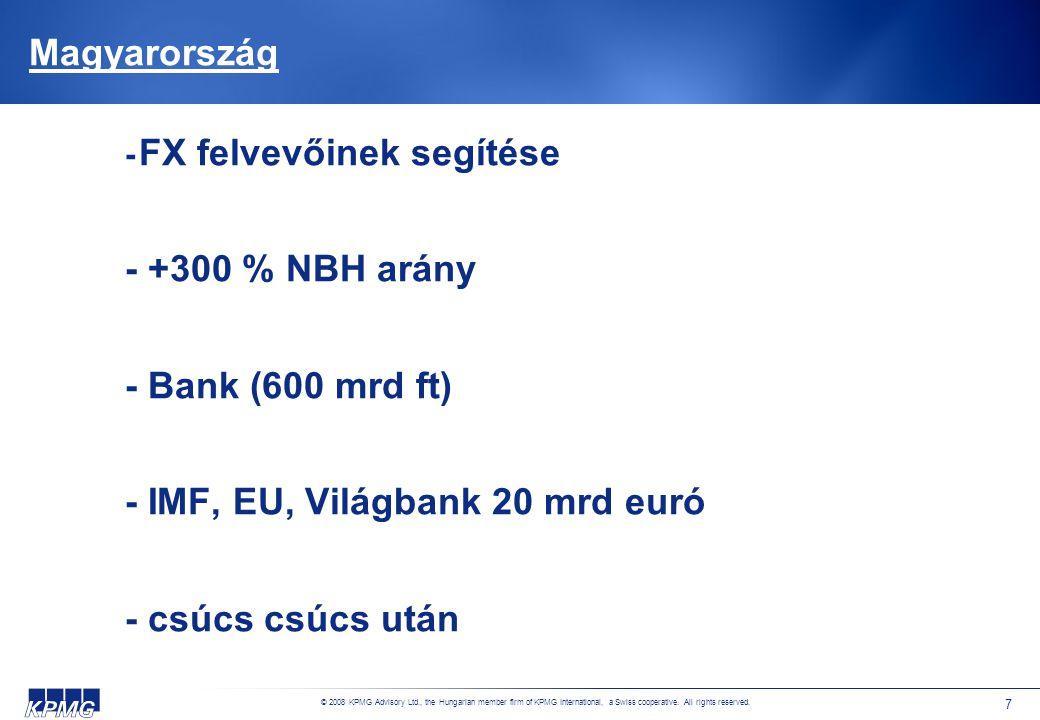 © 2008 KPMG Advisory Ltd., the Hungarian member firm of KPMG International, a Swiss cooperative.