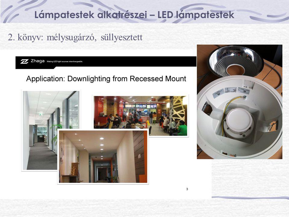 Lámpatestek alkatrészei – LED lámpatestek 2. könyv: mélysugárzó, süllyesztett