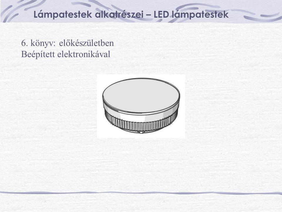 Lámpatestek alkatrészei – LED lámpatestek 6. könyv: előkészületben Beépített elektronikával