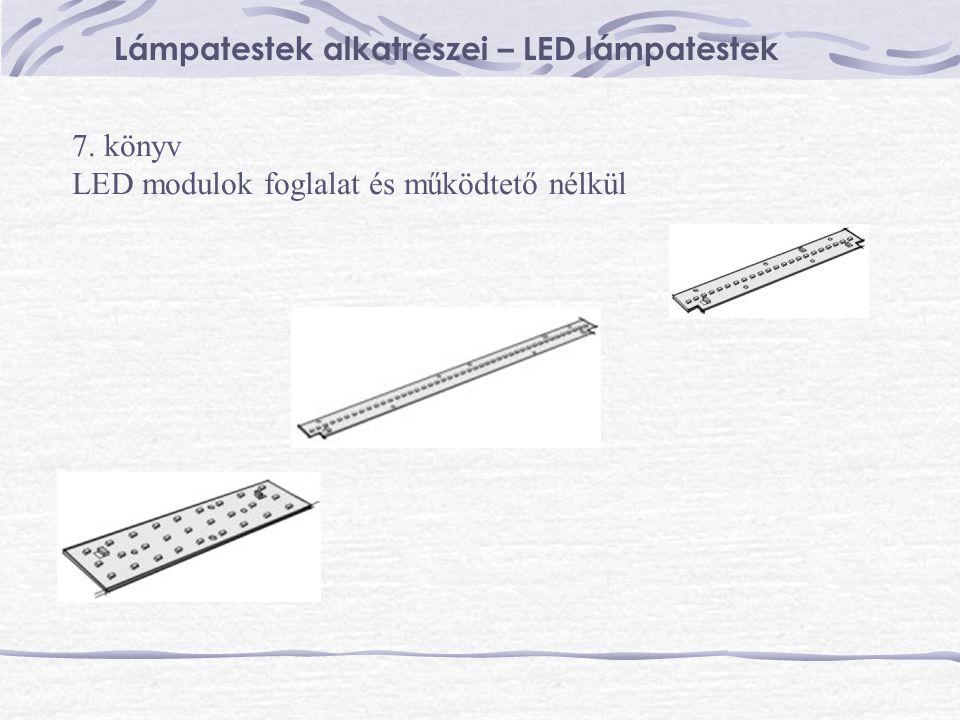 Lámpatestek alkatrészei – LED lámpatestek 7. könyv LED modulok foglalat és működtető nélkül
