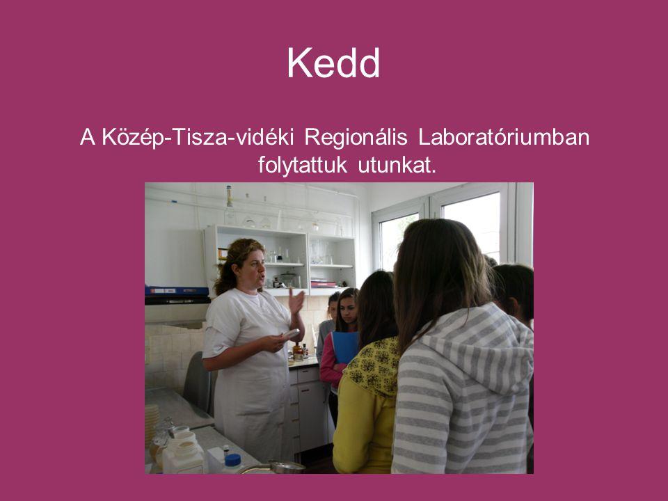 Kedd A Közép-Tisza-vidéki Regionális Laboratóriumban folytattuk utunkat.