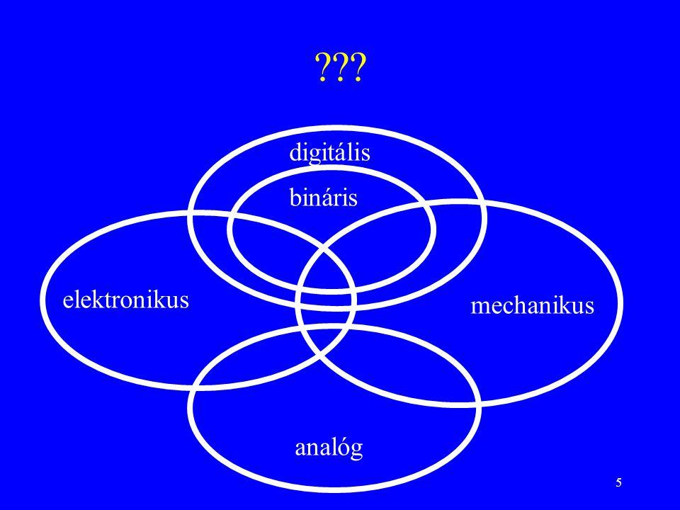 5 digitális elektronikus mechanikus analóg bináris
