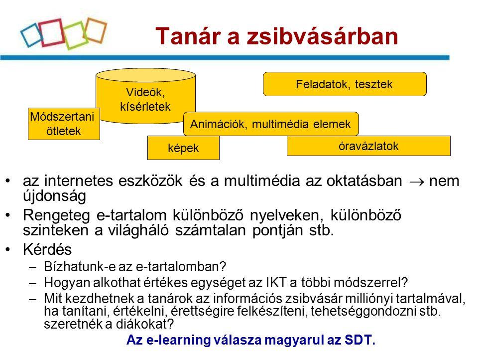 Sulinet Digitális Tudásbázis Tanulásmenedzsment rendszer (LMS) Tanulásmenedzsment rendszer (LMS) Tartalom- menedzsment rendszer (LCMS) Tartalom- menedzsment rendszer (LCMS) Oktatási portálok- adatbázisok; NDA; NAVA; ….