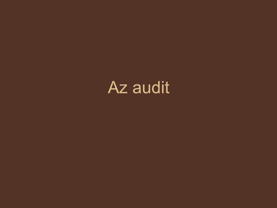 Az auditálás Jelentése hallgatás, tágabb értelemben megfigyelésből áll A minőségirányítási rendszereknél szokásos technika, módszerei bármely szervezet más szempontú értékelésére is alkalmas.