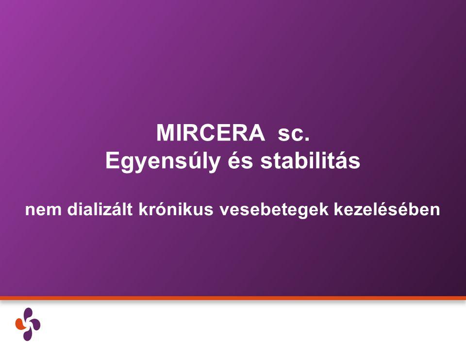 MIRCERA sc. Egyensúly és stabilitás nem dializált krónikus vesebetegek kezelésében