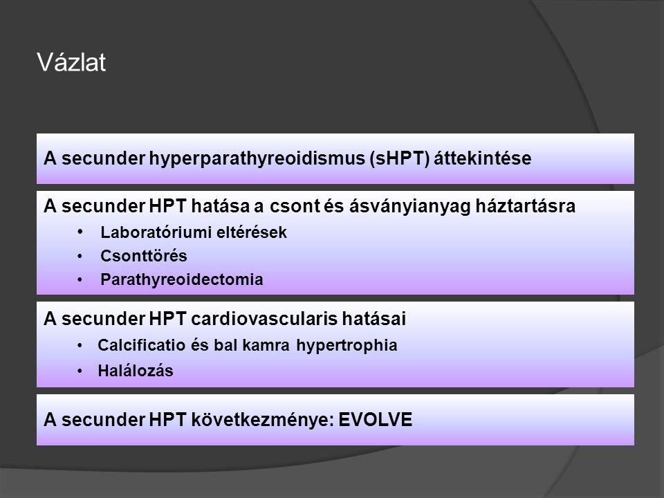 A secunder HPT cardiovascularis hatásai Calcificatio és bal kamra hypertrophiaCalcificatio és bal kamra hypertrophia Halálozás Vázlat A secunder hyper