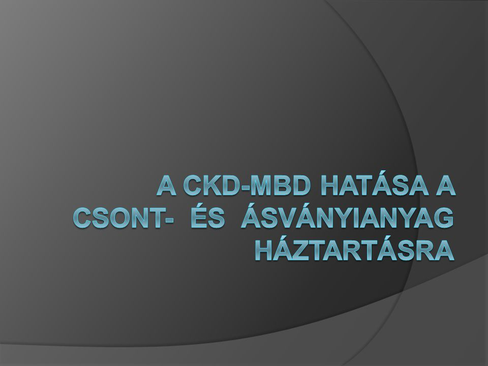 Összefoglalás: Secunder HPT és CKD-MBD következményei  Csont és ásványianyagcsere zavar: Biokémiai eltérések Törések Parathyreoidectomia  Cardiovasculáris következmények: Coronaria artéria kalcifikáció LVH A csont és ásványianyagcsere zavar és cardiovascularis következményei a dializált betegek magas mortalitási rizikójával járnak.