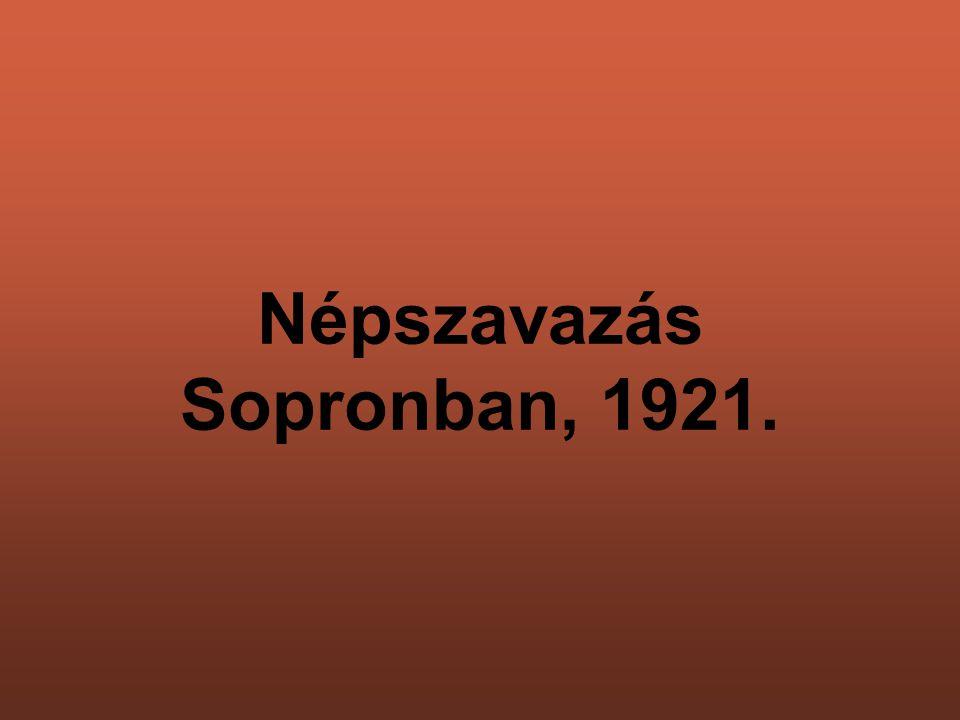 Népszavazás Sopronban, 1921.