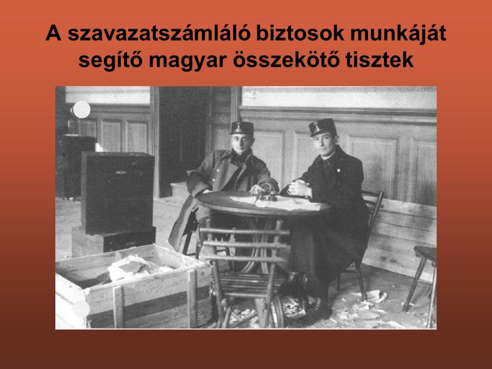 A szavazatszámláló biztosok munkáját segítő magyar összekötő tisztek