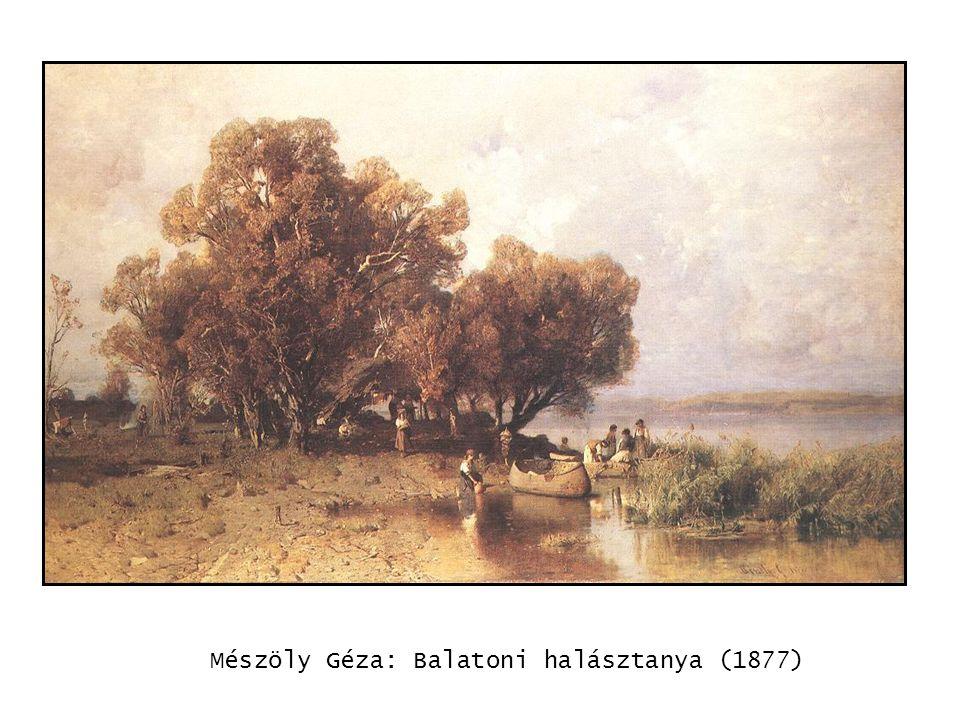 Mészöly Géza: Balatoni halásztanya (1877) kép