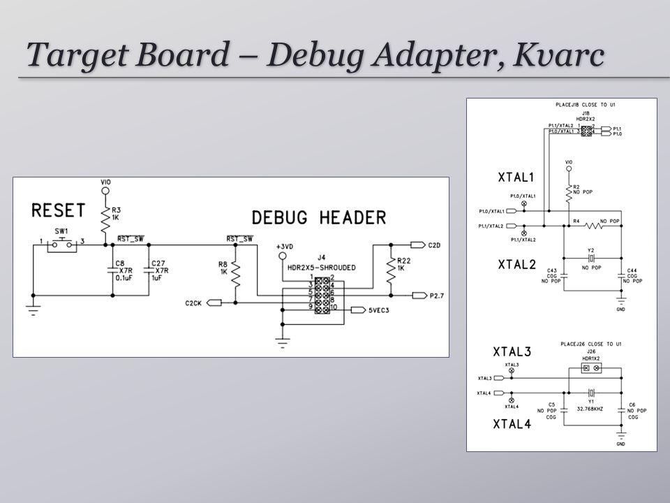 Target Board – Debug Adapter, Kvarc