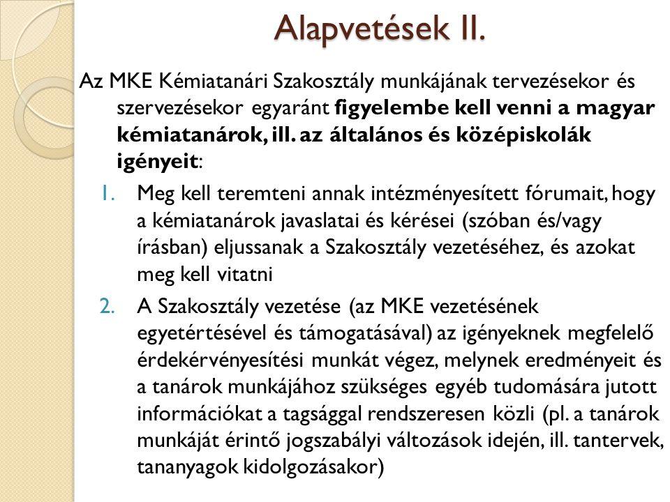 Alapvetések II.