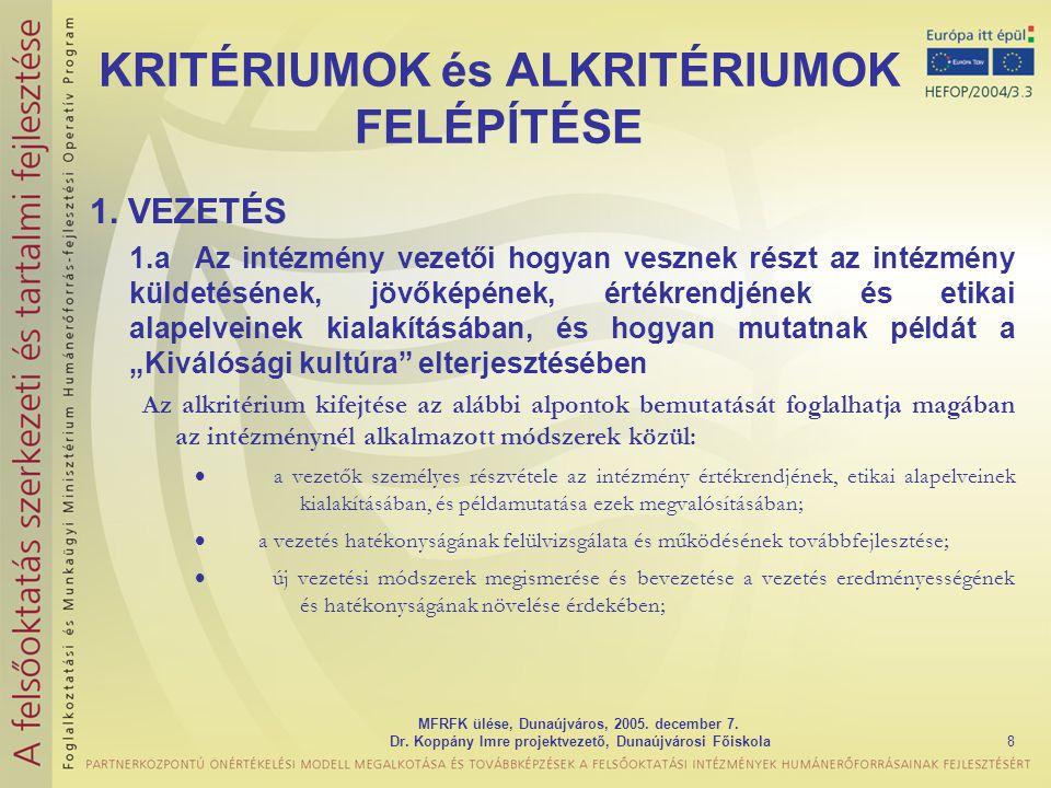 MFRFK ülése, Dunaújváros, 2005.december 7. Dr.