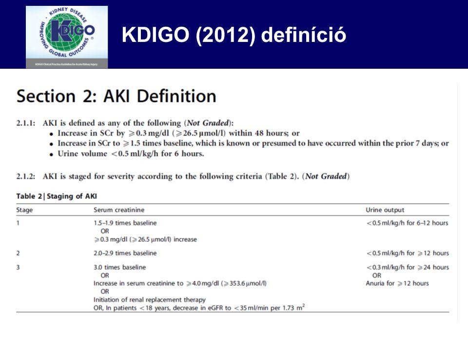 40 80 0 GFR (mL/min) 07142128 4 Days 2 0 6 Serum Creatinine (mg/dL) Kreatinin szint és GFR akut veseelégtelenségben 40 80 0 GFR (mL/min) 07142128 4 Days 2 0 6 Serum Creatinine (mg/dL)
