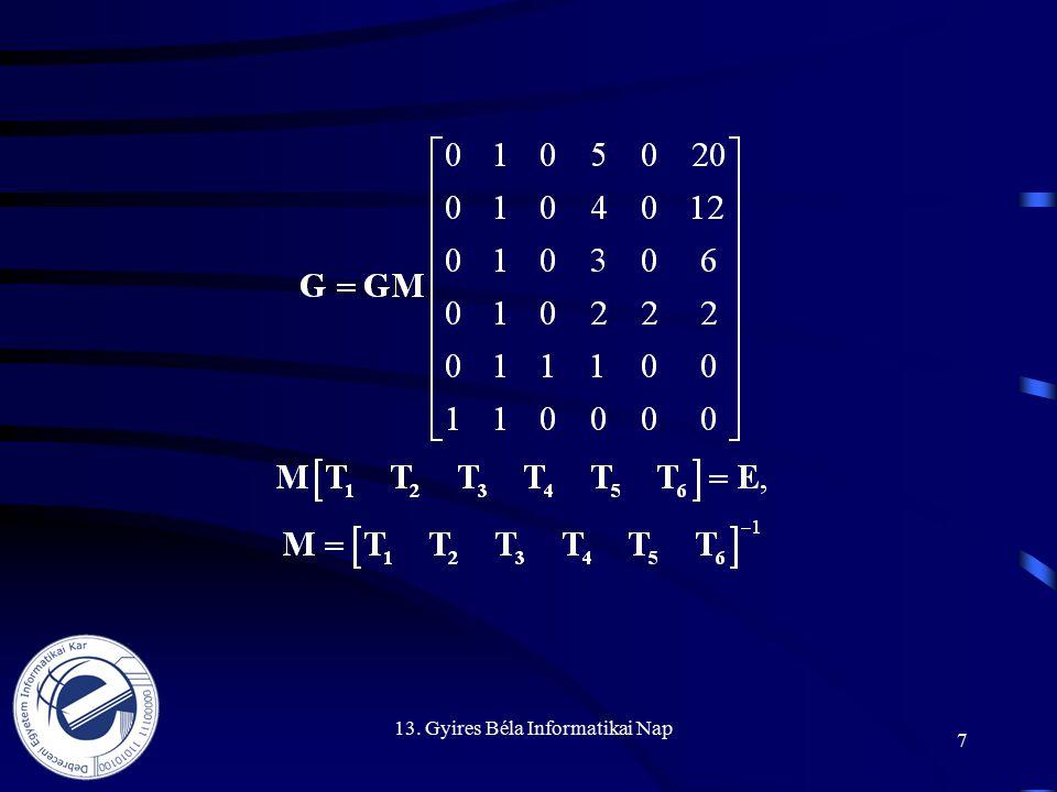 13. Gyires Béla Informatikai Nap 7