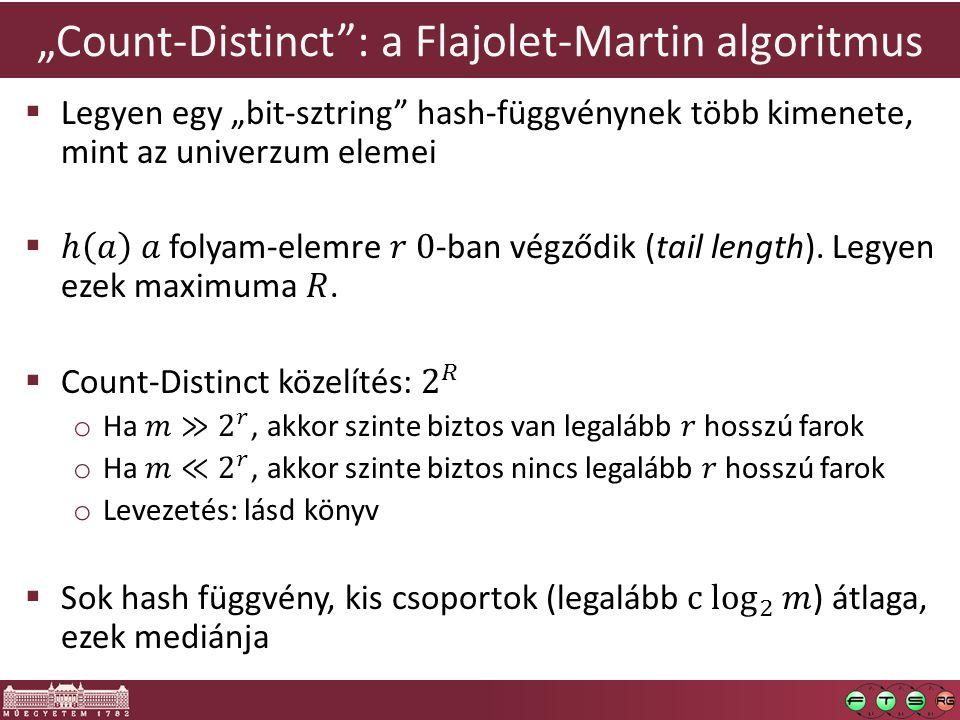 """""""Count-Distinct : a Flajolet-Martin algoritmus"""