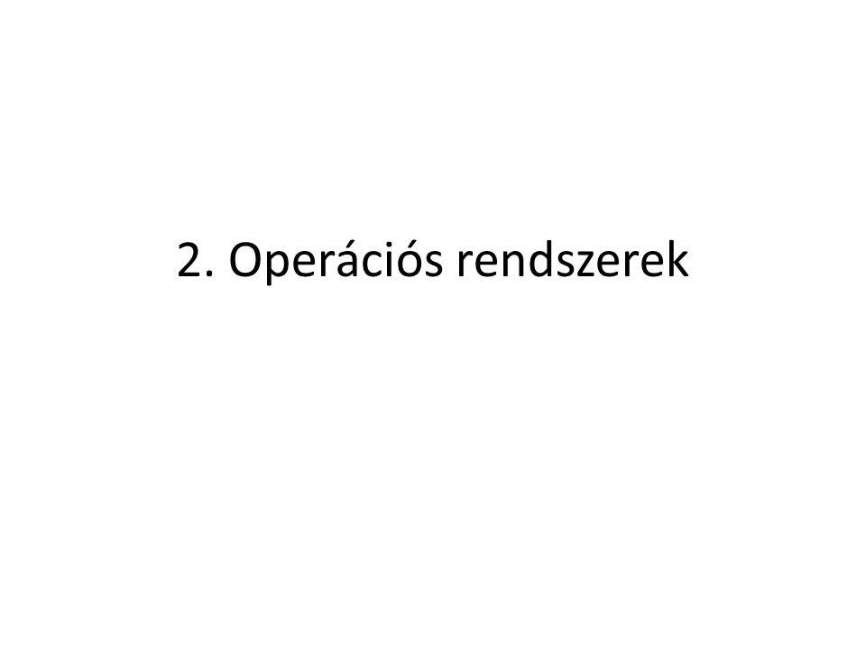 Tartalom 2.1 Az operációs rendszer kiválasztása 2.2 Az operációs rendszer telepítése 2.3 Az operációs rendszer karbantartása