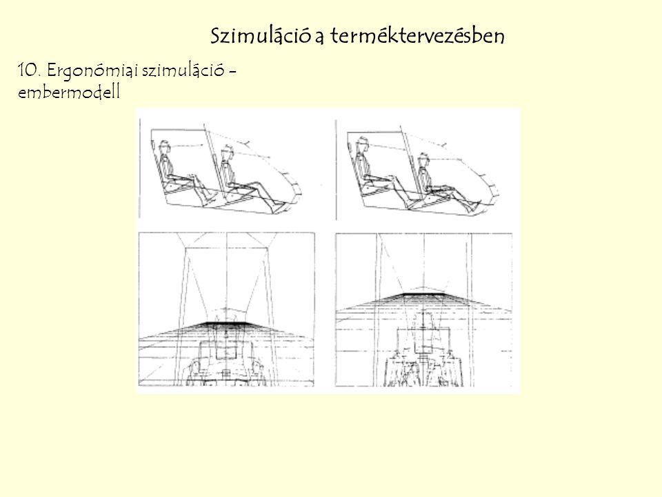 Szimuláció a terméktervezésben 10. Ergonómiai szimuláció - embermodell